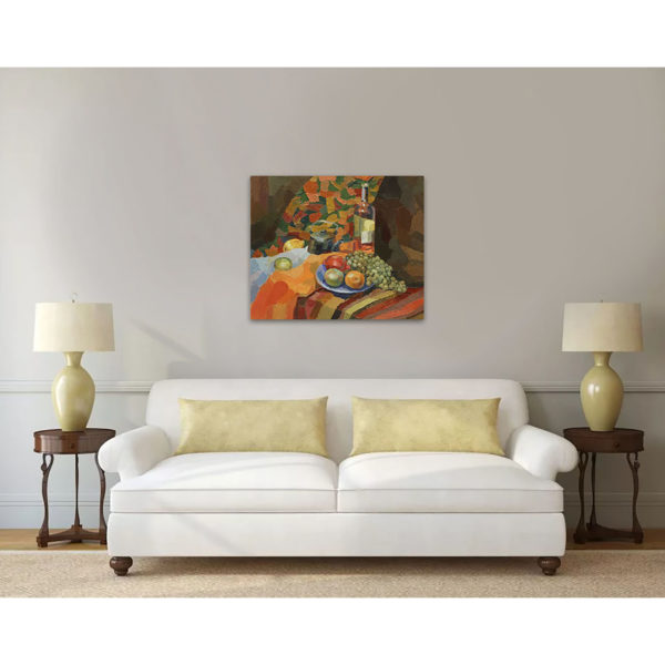 оранжевый натюрморт интерьер