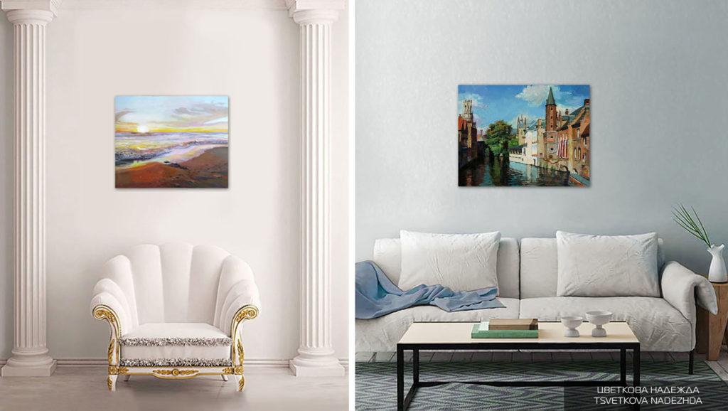 Картины в интерьере Цветковой Надежды