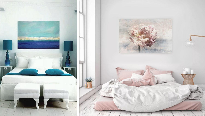3 выбираем картины для интерера по стилю спальня